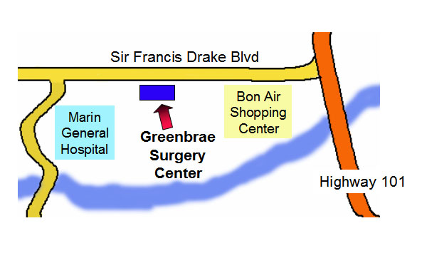 Map to Greenbrae Surgery Center